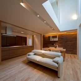 U3-house「回廊の家」 (リビングダイニング)