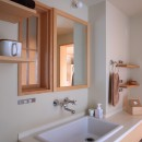 アトリエのある家~2人の好きなことを楽しむ家~の写真 洗面脱衣室