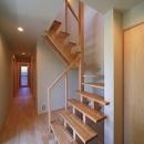 シンプル+ナチュラルな家の写真 階段