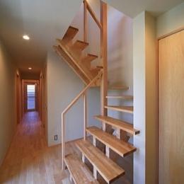 シンプル+ナチュラルな家 (階段)