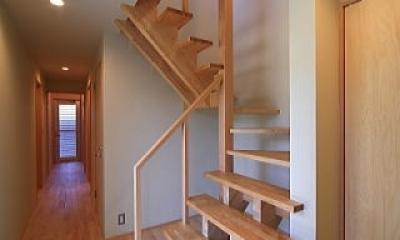 階段|シンプル+ナチュラルな家