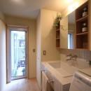 シンプル+ナチュラルな家~2人の好きをMIXした家~の写真 洗面脱衣室