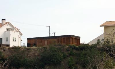 オーシャンヴューの別荘 (北西側全景)