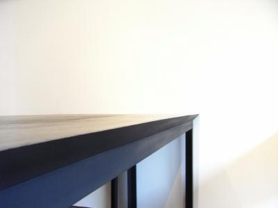モルタルのテーブル3 (モルタルのテーブルとアクリルの収納~羊羹と寒天)