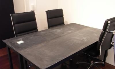 モルタルのテーブルとアクリルの収納~羊羹と寒天 (モルタルのテーブル4)