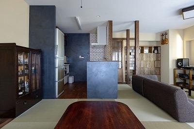 いぐさの香りがあふれる家の部屋 広々和室リビング