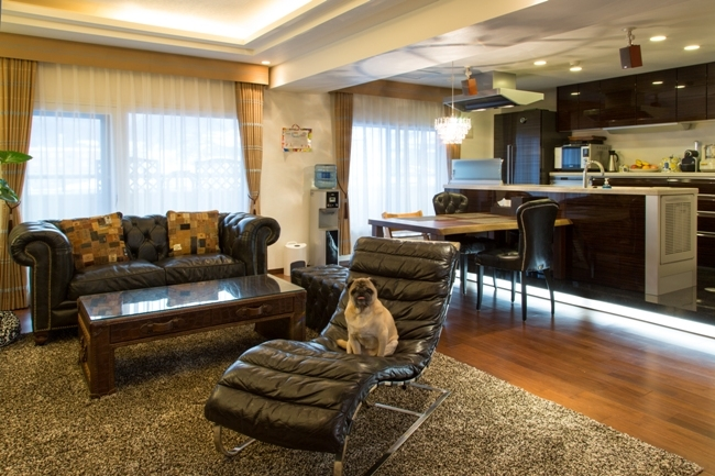札幌の夜景が一望でき、 自然に包まれた 贅沢なマンションリノベーションの部屋 キッチン