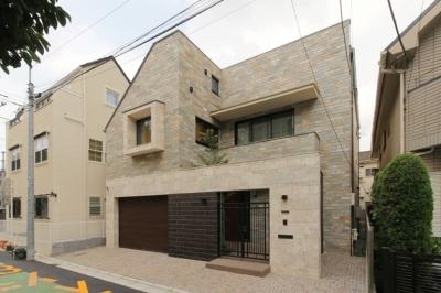 石と塗り壁の家 (外観(日中))
