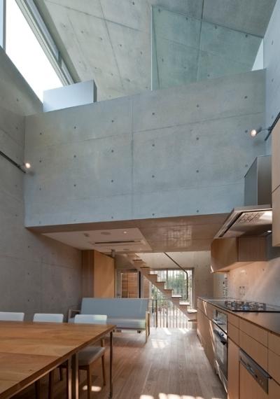 MKR [地下2階地上2階の家] 自邸 (デザイン性のあるリビング(日中))