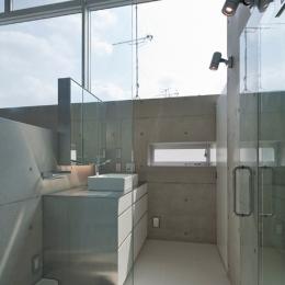 MKR [地下2階地上2階の家] 自邸 (光溢れる洗面スペース)