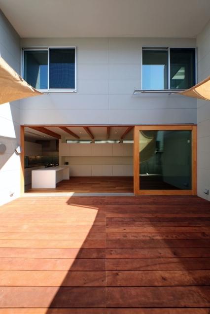 SKR [北側採光の家]の部屋 日当たりの良いテラス