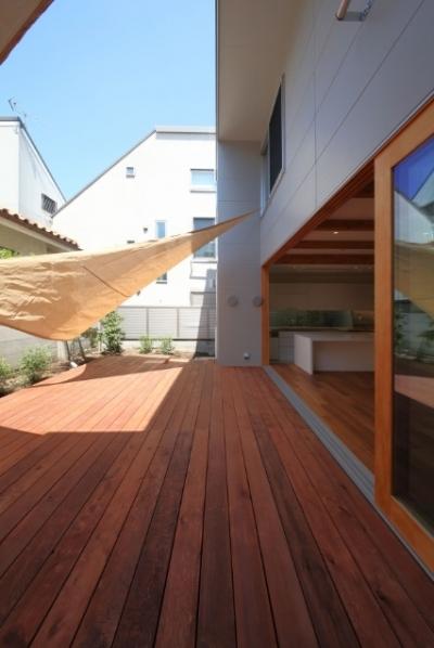 日当たりの良いテラス (SKR [北側採光の家])