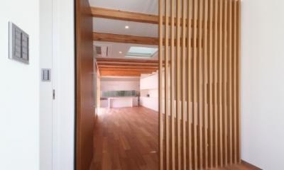 SKR [北側採光の家] (主室入り口)