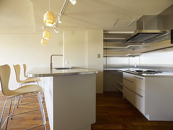 AHM 西区のマンションの写真 キッチン構造