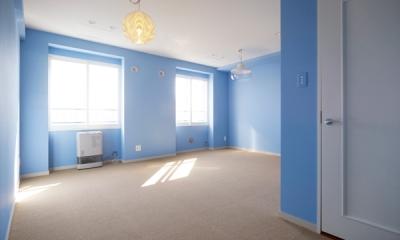 AHM 西区のマンション (空色のベッドルーム)