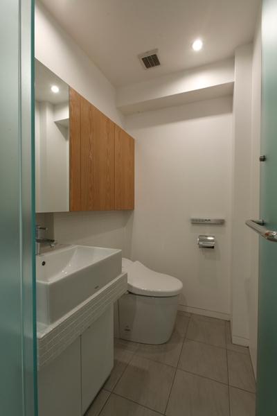MBU 新しい田の字プランの写真 シンプルデザイントイレ