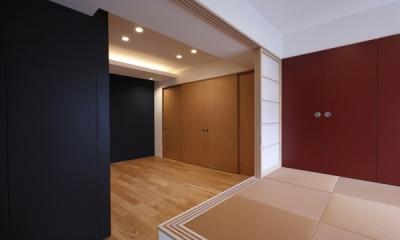 和室から見るシアタールーム|MBU 新しい田の字プラン