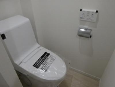 シンプルなつくりのトイレ (豊島区駒込)