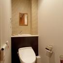 北欧に憧れて…天井に板貼りましたの写真 トイレ