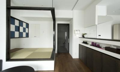 J邸・和モダンスタイル 光と風が通る心地よい住まい (LDK-畳スペースopen3)