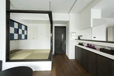LDK-畳スペースopen3 (J邸・和モダンスタイル 光と風が通る心地よい住まい)