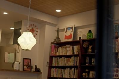 北欧に憧れて…天井に板貼りました (ダイニング2)
