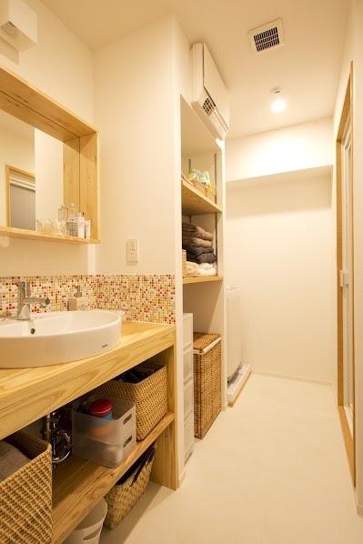 J邸・和モダンスタイル 光と風が通る心地よい住まいの部屋 脱衣所