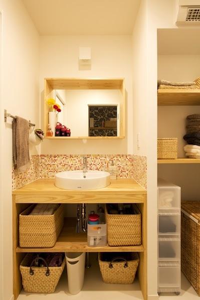 J邸・和モダンスタイル 光と風が通る心地よい住まいの部屋 洗面2