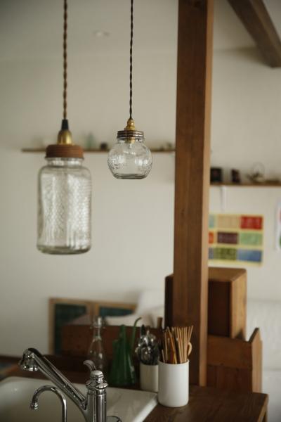 キッチンの照明 (S邸・DIYを楽しむ!)