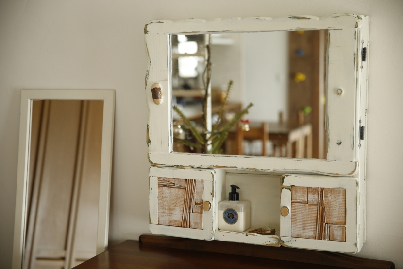 S邸・DIYを楽しむ!の部屋 リビング-鏡