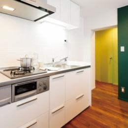 グリーンカラーがお気に入り。団地タイプ間取りを広々とした空間へ