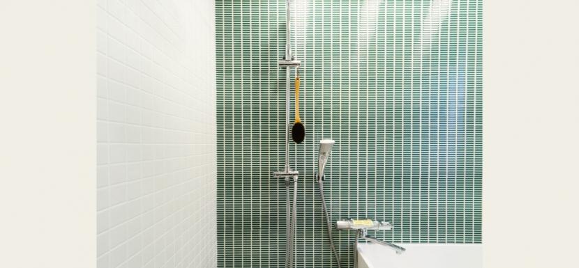 リフォーム・リノベーション会社:インテリックス空間設計「グリーンカラーがお気に入り。団地タイプ間取りを広々とした空間へ」