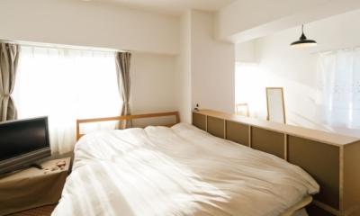 住み心地も、こだわりの家具に合うデザインも大切に考えた住まい。 (やすらげる寝室)
