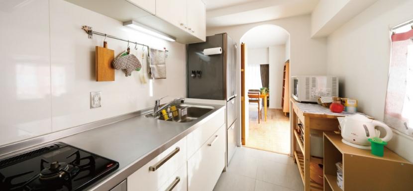 住み心地も、こだわりの家具に合うデザインも大切に考えた住まい。の部屋 機能的なキッチン