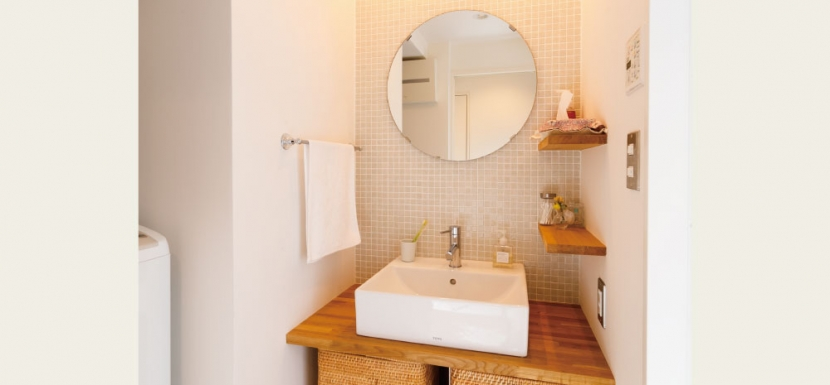住み心地も、こだわりの家具に合うデザインも大切に考えた住まい。の写真 洗面所
