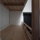 子供部屋 1段目 床板は杉の三層パネル