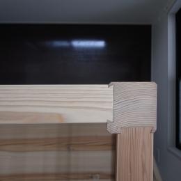 大きな2段ベッドのある子供部屋 (子供部屋 木組みに大工の技が光る)