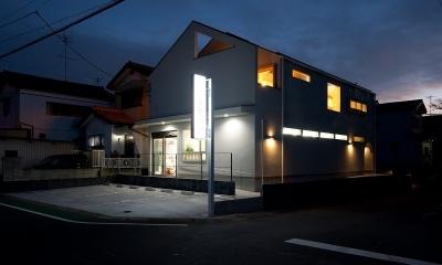 吉川の住まい (外観(夕景)2)