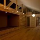 吉川の住まいの写真 リビング(夕景)2