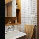 間のある家の写真 洗面台