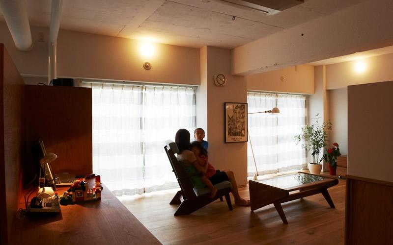 間のある家の部屋 リビング 3
