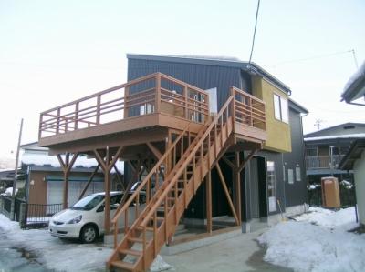 2階リビングの家 (外観 1)