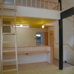 2階リビングの家 (ダイニング・キッチン 2)