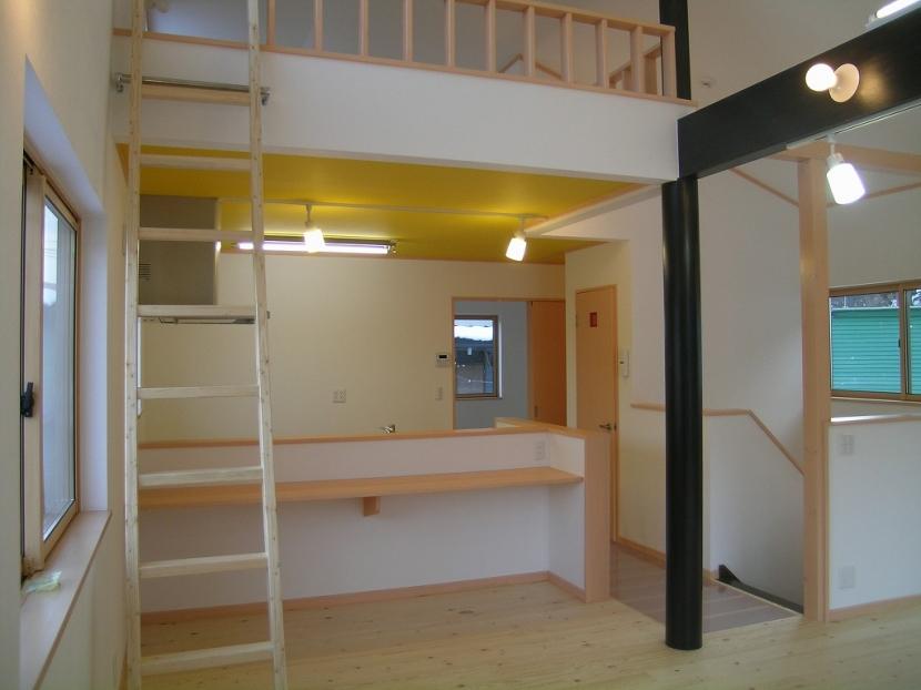 2階リビングの家の部屋 ダイニング・キッチン 2