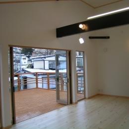 2階リビングの家 (リビング・テラス)