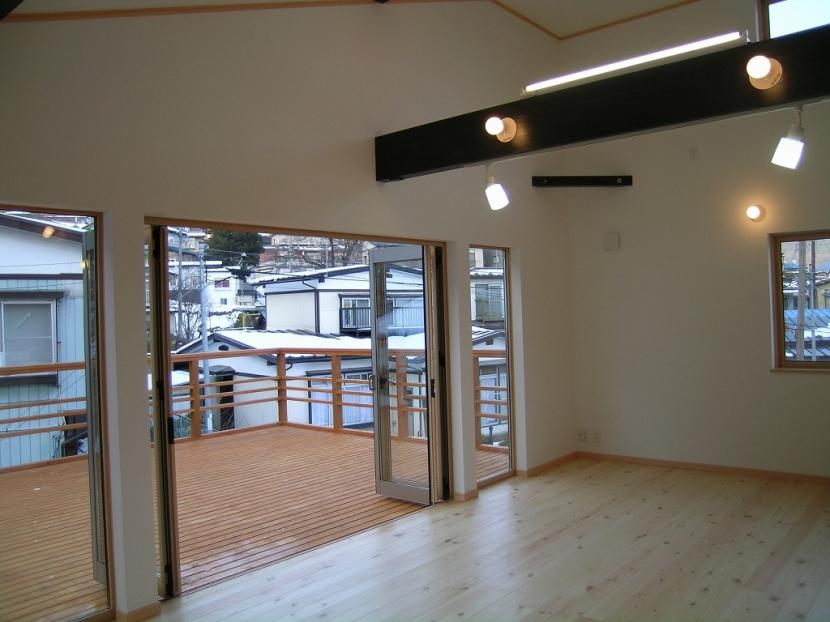 2階リビングの家の部屋 リビング・テラス