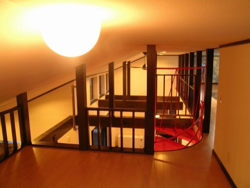 遊園地のような家の部屋 屋根裏部屋