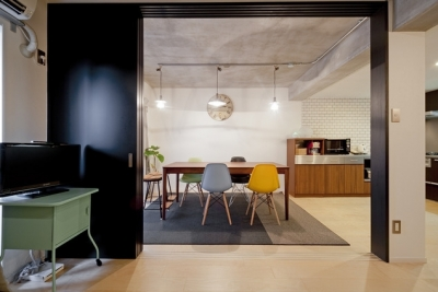 リビングダイニング1 (サブウェイタイルに造作洗面。自分好みのデザインと住み心地を追求した家にリノベーション)