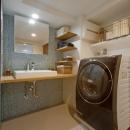 ハコリノベの住宅事例「サブウェイタイルに造作洗面。自分好みのデザインと住み心地を追求した家にリノベーション」