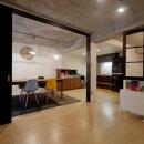 サブウェイタイルに造作洗面。自分好みのデザインと住み心地を追求した家にリノベーションの写真 キッズスペース